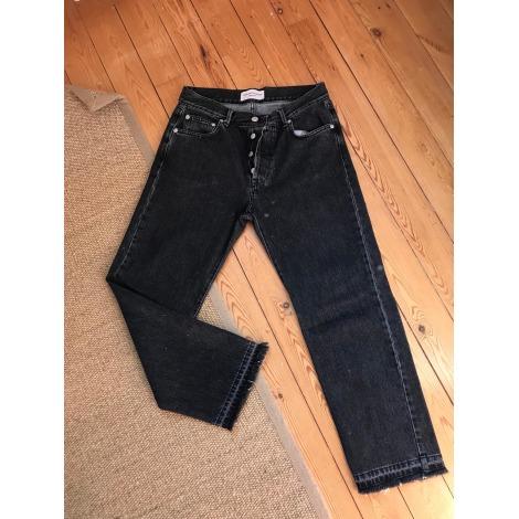 Pantalon droit OFFICINE GÉNÉRALE Noir