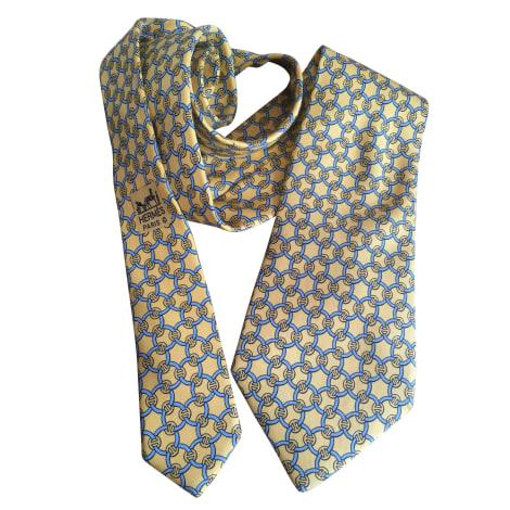 Krawatte HERMÈS Gelb