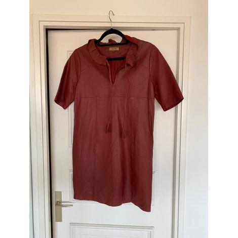 Robe mi-longue BEL AIR Rouge, bordeaux