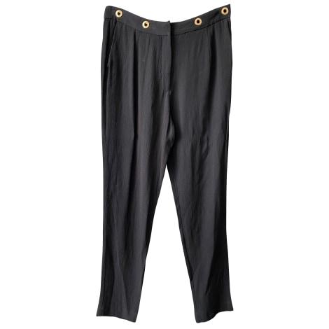 Pantalon droit SANDRO Noir