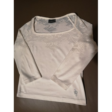 Top, tee-shirt ROCCOBAROCCO Blanc, blanc cassé, écru