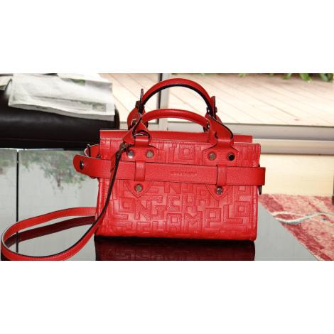 Sac en bandoulière en cuir LONGCHAMP Mademoiselle Longchamp Rouge, bordeaux