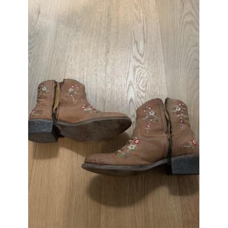 Santiags, bottines, low boots cowboy MARQUE INCONNUE Beige, camel