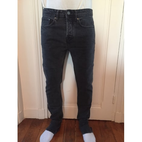 Jeans droit PULL & BEAR Noir