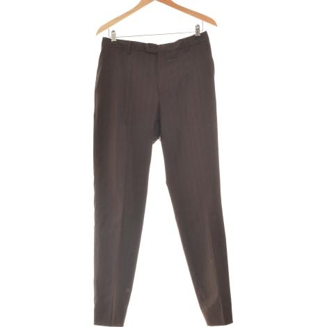 Pantalon droit PAUL SMITH Marron