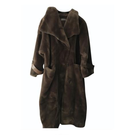 Manteau en fourrure GUY LAROCHE Marron