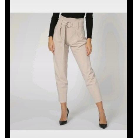 Pantalon carotte GUESS Beige, camel
