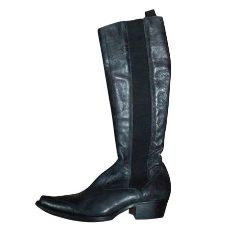 Santiags, bottes cowboy FREE LANCE Noir