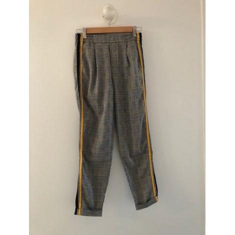 Pantalon large BERSHKA Noir
