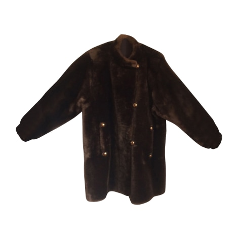 Manteau en fourrure YVES SAINT LAURENT Marron