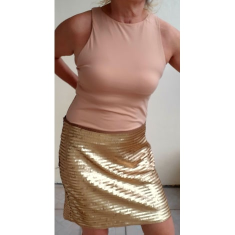 Jupe courte H&M Doré, bronze, cuivre