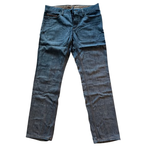 Pantalon droit BERLUTI Bleu, bleu marine, bleu turquoise