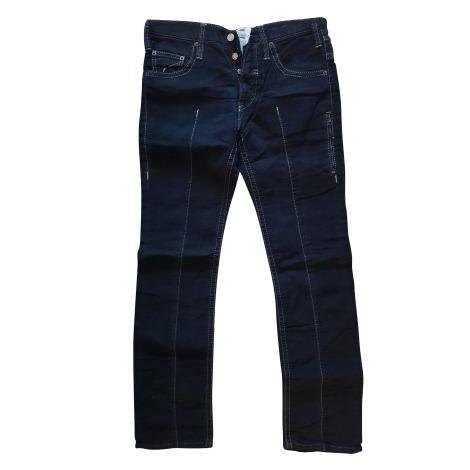 Jeans slim NEIL BARRETT Bleu, bleu marine, bleu turquoise