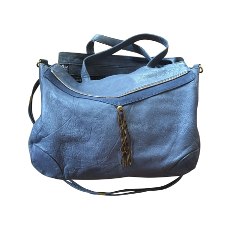 Lederhandtasche PETITE MENDIGOTE Blau, marineblau, türkisblau