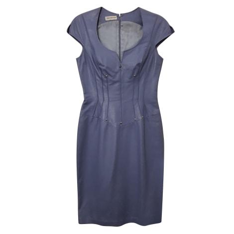 Robe courte THIERRY MUGLER Bleu, bleu marine, bleu turquoise