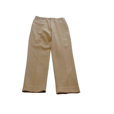 Pantalon droit FAÇONNABLE Beige, camel