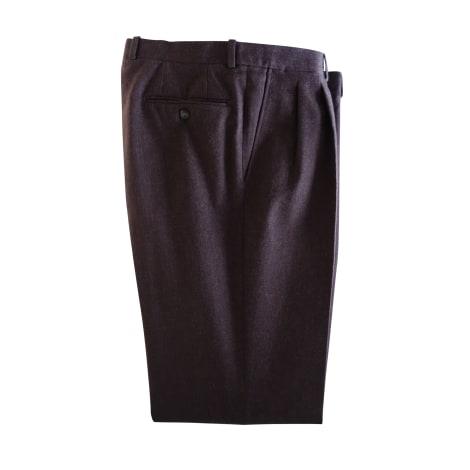 Pantalon droit LANVIN Marron