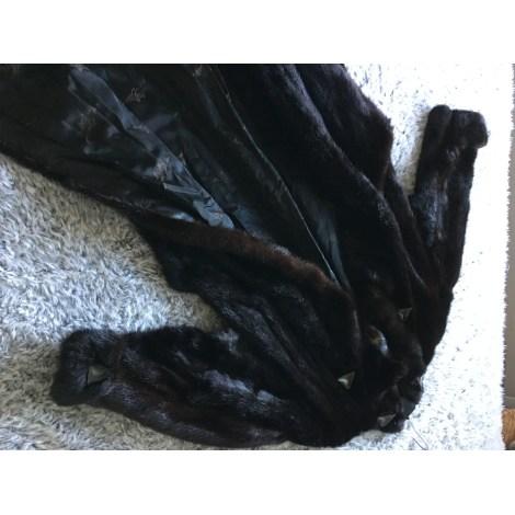 Manteau en fourrure JACQUES BELLEMIN FOURREUR CRÉATEUR Marron