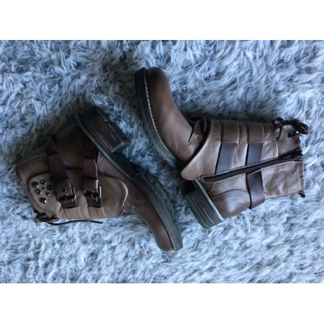 Bottines & low boots plates BERTUCHI Marron