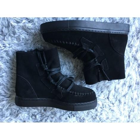 Bottines & low boots plates JACQUELINE RIU Noir