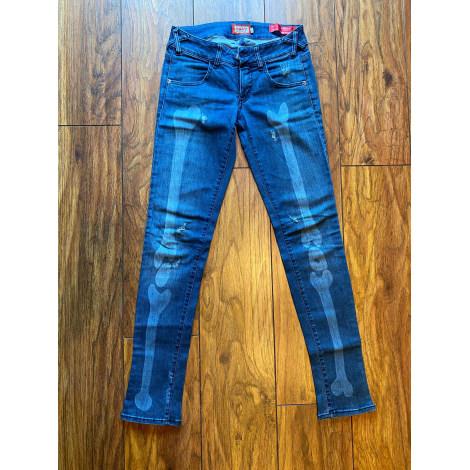 Jeans slim MET Bleu, bleu marine, bleu turquoise