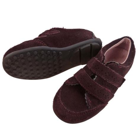 Chaussures à scratch JACADI Rouge, bordeaux