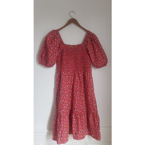 Robe courte MANGO Rouge, bordeaux