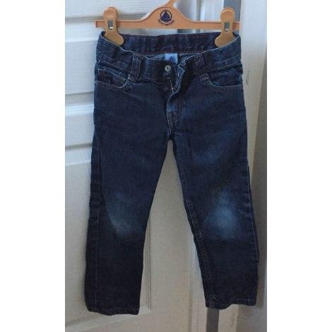 Jeans droit PETIT BATEAU Bleu, bleu marine, bleu turquoise