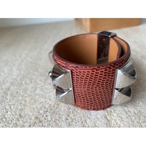 Bracelet HERMÈS Collier de Chien Marron