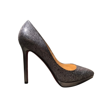 Pumps CHRISTIAN LOUBOUTIN Grau, anthrazit