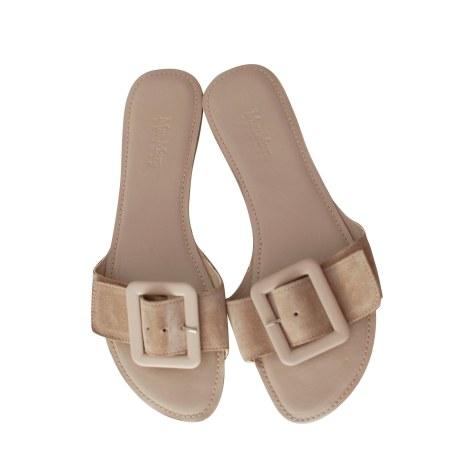 Sandales plates  MAX MARA Beige, camel