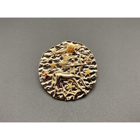 Broche NON SIGNÉ Doré, bronze, cuivre