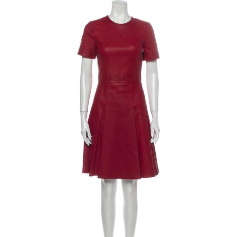 Robe courte BOTTEGA VENETA Rouge, bordeaux