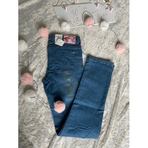 Jeans droit VERTBAUDET Bleu, bleu marine, bleu turquoise
