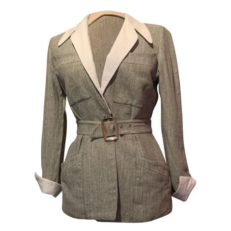 Blazer, veste tailleur THIERRY MUGLER Vert grisé