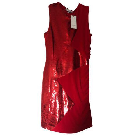 Robe courte LES PETITES... Rouge, bordeaux