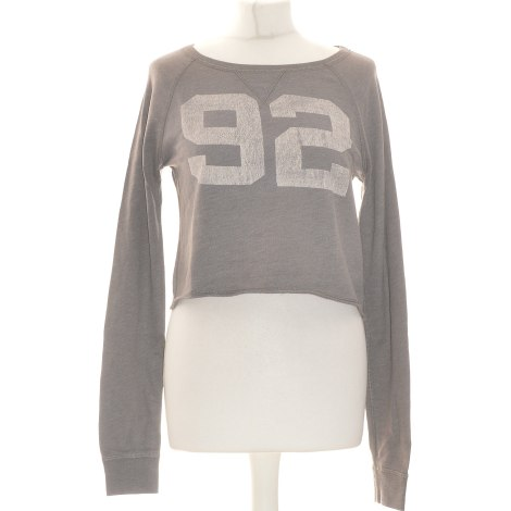 Top, tee-shirt ABERCROMBIE & FITCH Gris, anthracite