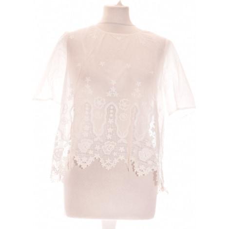 Tops, T-Shirt CLAUDIE PIERLOT Weiß, elfenbeinfarben