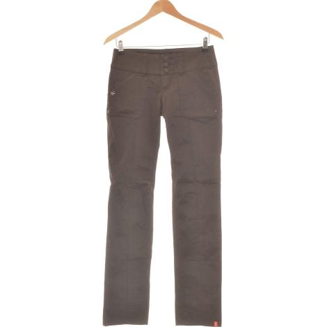 Pantalon droit ESPRIT Marron