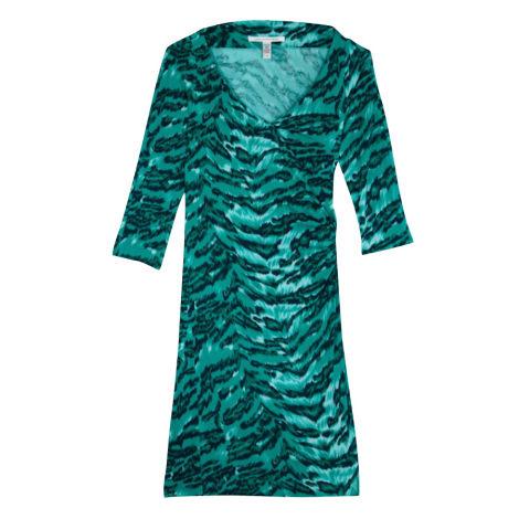 Robe mi-longue DIANE VON FURSTENBERG Vert