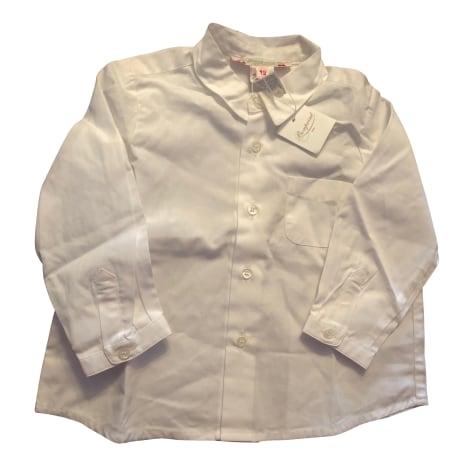 Blouse, Short-sleeved Shirt BONPOINT White, off-white, ecru