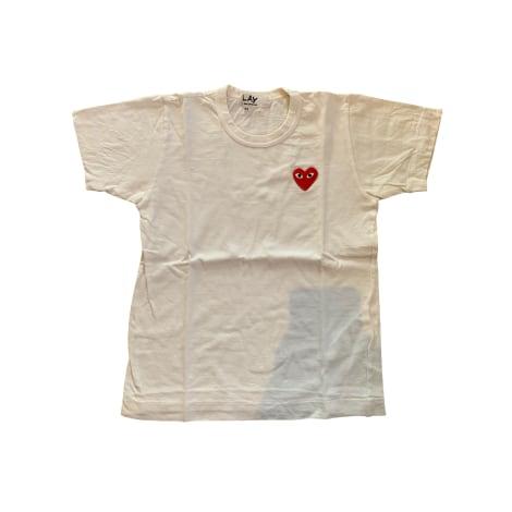 Top, tee-shirt COMME DES GARCONS Blanc, blanc cassé, écru