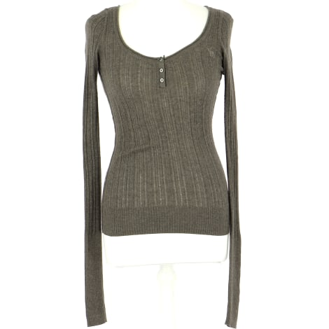 Top, tee-shirt ABERCROMBIE & FITCH Marron
