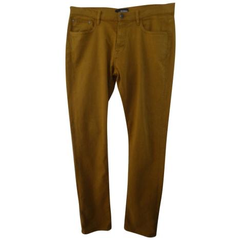 Jeans slim THE KOOPLES moutarde safran