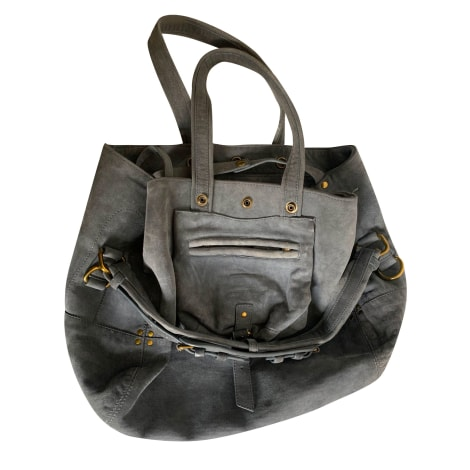 Sac à main en cuir JEROME DREYFUSS Gris, anthracite