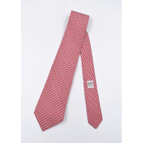 Cravate HERMÈS Rouge, bordeaux