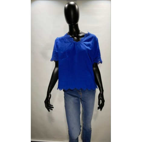 Blouse UN JOUR AILLEURS Bleu, bleu marine, bleu turquoise