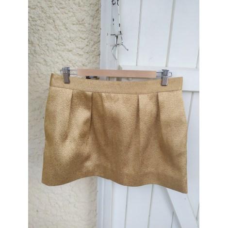 Jupe courte COS Doré, bronze, cuivre