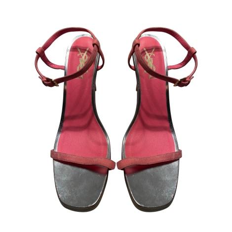 Heeled Sandals YVES SAINT LAURENT Pink, fuchsia, light pink