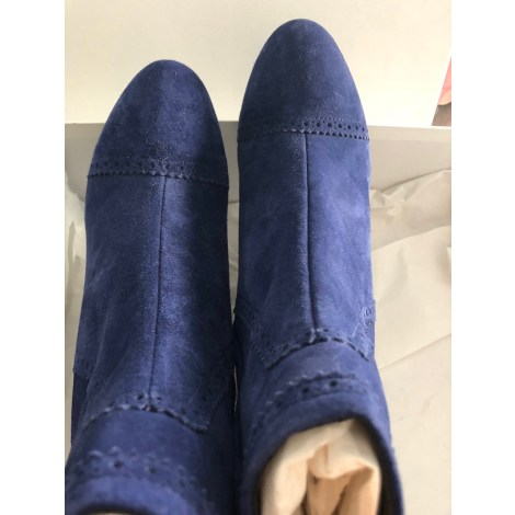 Wedge Ankle Boots BALENCIAGA Blue, navy, turquoise